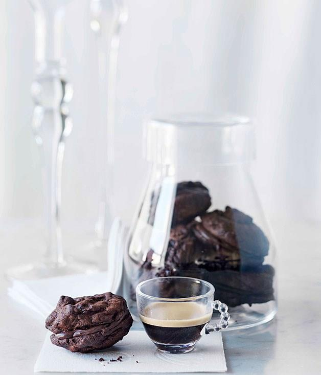 "[**Sour cherry-chocolate cookies**](https://www.gourmettraveller.com.au/recipes/browse-all/sour-cherry-chocolate-cookies-10482|target=""_blank"")"