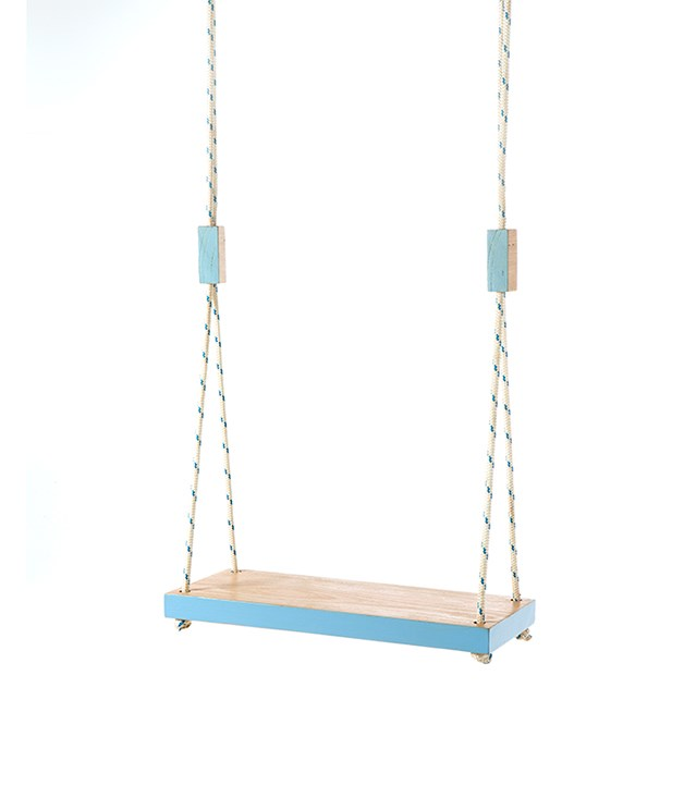 "**Pop & Scott ""Thinking Swing""** Feeling uninspired? Take five on this swing from [Pop & Scott](http://popandscott.com/products-page/popandscottshop/ps-thinking-swings/ ""Pop and Scott""). Fashioned using recycled Australian hardwood timbers, swings can also be made to order in your Valentine's favourite colour. _$320_"