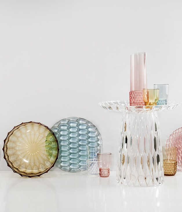 "**Kartell in Tavola Jellies Family tableware by Patricia Urquiola** Back in the '70s, Kartell in Tavola tableware turned heads for its imaginative and colourful design style. Flash-forward to 2015 and this [Jellies Family collection](http://www.spacefurniture.com.au/ ""Space Furniture"") by designer Patricia Urquiola is well-suited to the Valentine who likes to entertain. _From $25 at Space Furniture._"