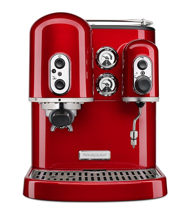"**KitchenAid Artisan Espresso Machine** Don't let its shiny red exterior fool you. The Artisan Espresso Machine from [KitchenAid](http://www.kitchenaid.com.au ""KitchenAid""), which features two separate boilers for streamlined brewing and frothing, is a serious piece of coffee kit. _$1,999_"