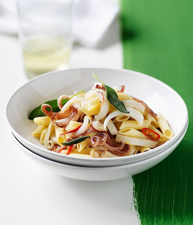 **Pennette with Calamari, Chilli and Sage**