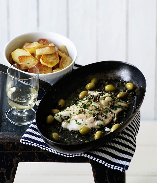 **Sicilian-Style John Dory with Capers, Garlic and Olives**