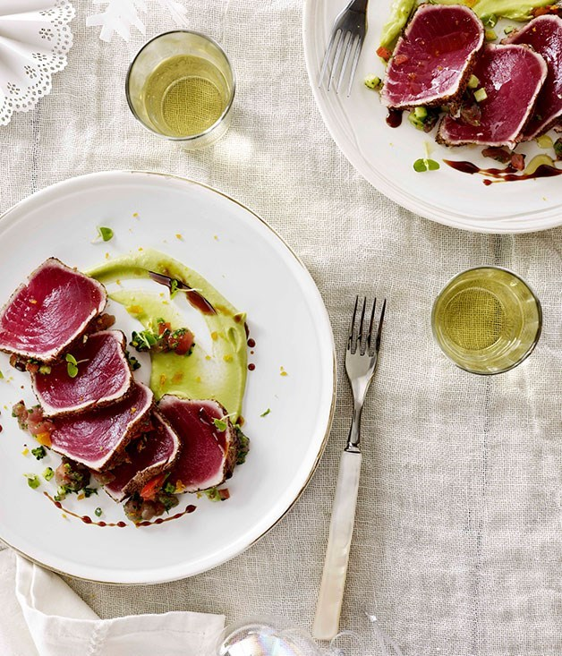 "[**Tuna Carpaccio ""La Zingara""**](https://www.gourmettraveller.com.au/recipes/chefs-recipes/tuna-carpaccio-la-zingara-8960