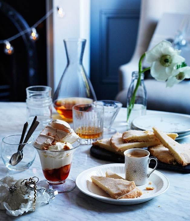 "[**Pavlova with Poached Peaches and Amaretto Mascarpone**](https://www.gourmettraveller.com.au/recipes/browse-all/pavlova-with-poached-peaches-and-amaretto-mascarpone-11836|target=""_blank"")"