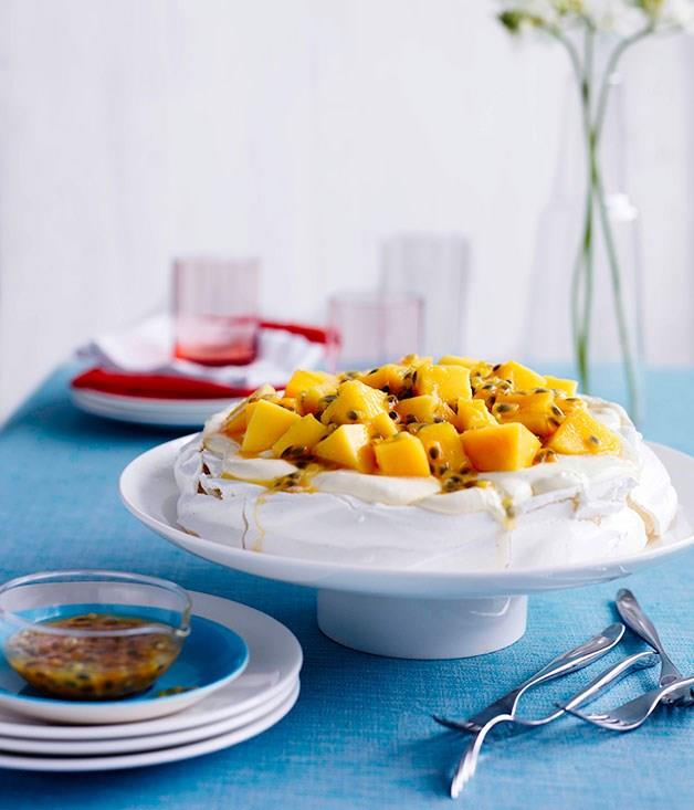 "[**Pavlova with mango and passionfruit**](https://www.gourmettraveller.com.au/recipes/browse-all/pavlova-8669|target=""_blank"")"