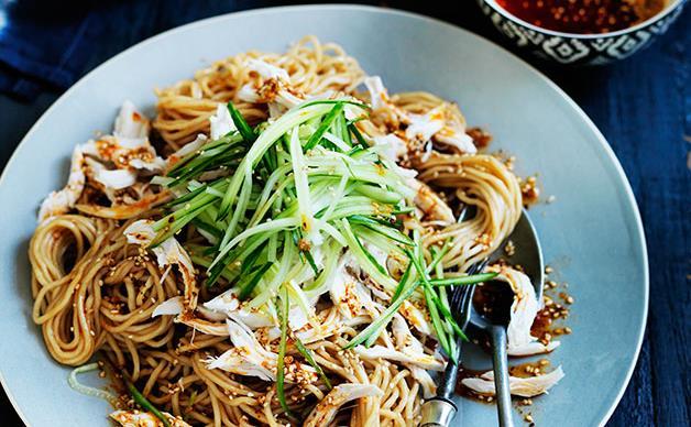 Sichuan chicken noodle salad