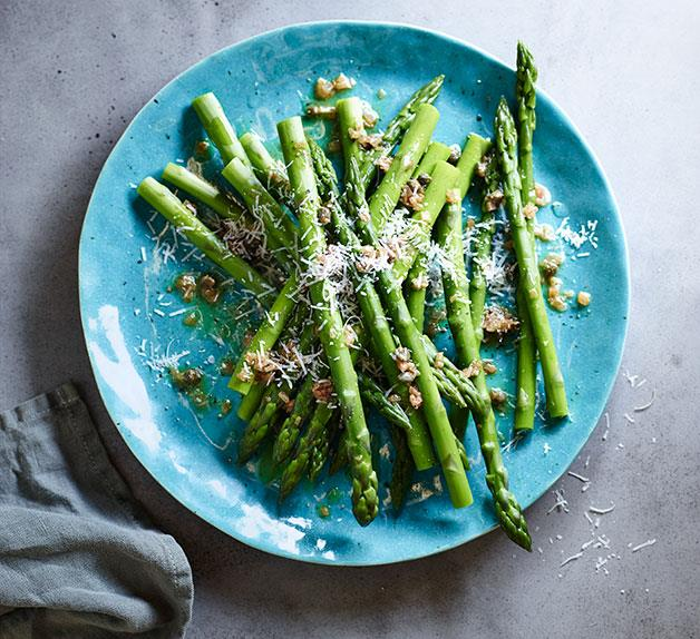 Asparagus with caper and shallot butter
