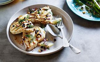 Swordfish with agrodolce sauce