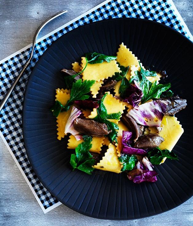 "[Mitch Orr's (ACME) stracci with hare and radicchio](https://www.gourmettraveller.com.au/recipes/chefs-recipes/stracci-with-hare-and-radicchio-8023|target=""_blank"")"