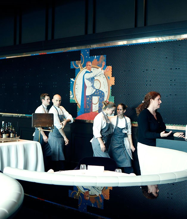 **** The Heston Blumenthal mosaic with chefs at the ready.
