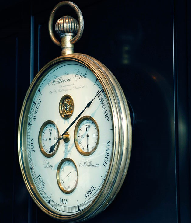 **** The clock counting down the restaurant's remaining time in Melbourne.