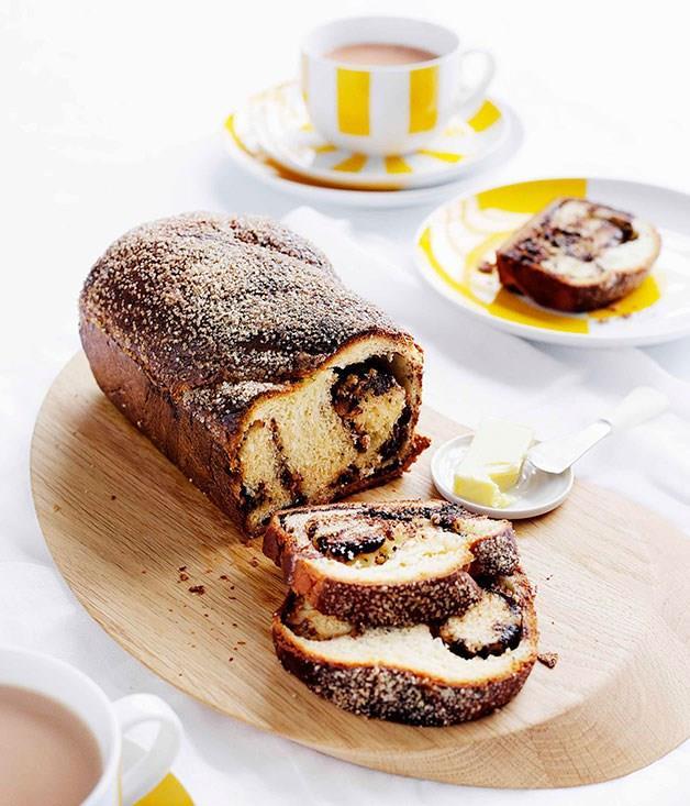 "[**Chocolate and hazelnut babka**](https://www.gourmettraveller.com.au/recipes/browse-all/chocolate-and-hazelnut-babka-8733|target=""_blank"")"