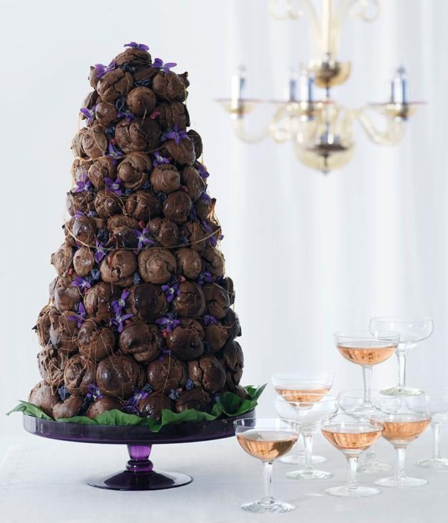 "[**Chocolate croquembouche**](https://www.gourmettraveller.com.au/recipes/browse-all/chocolate-croquembouche-9959|target=""_blank"")"