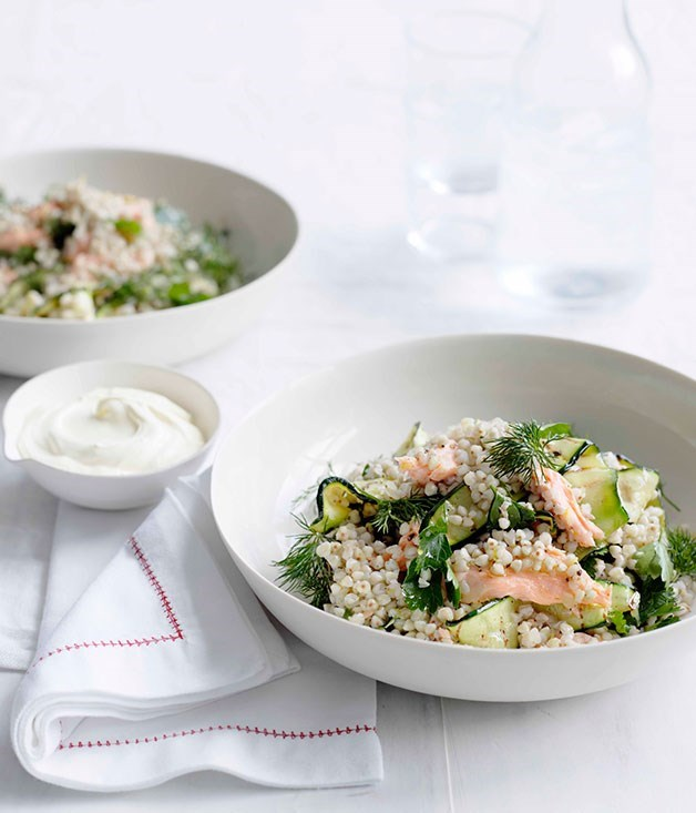 **Toasted Buckwheat and Smoked Trout Salad**