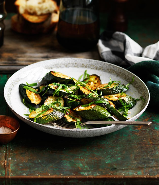 Marinated fried zucchini