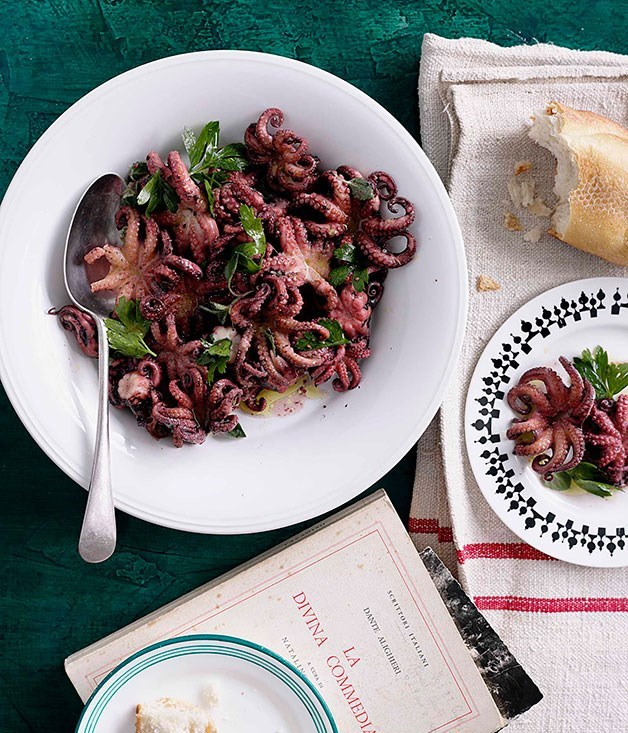 **Braised Octopus with Oregano**