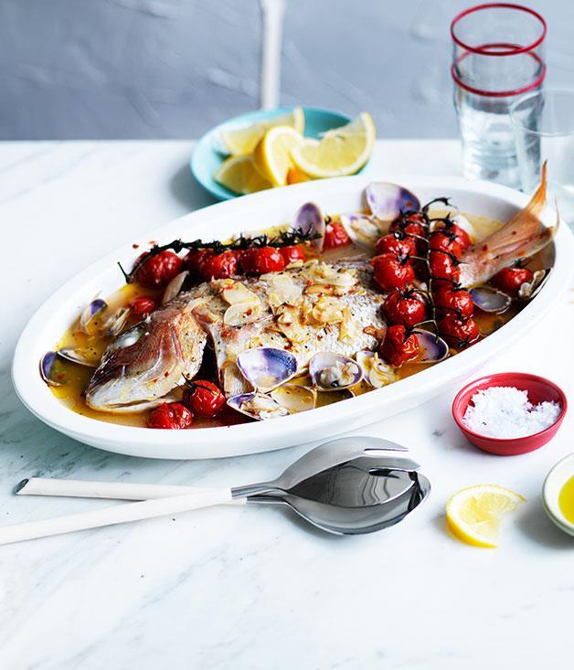 "**[Snapper all'acqua pazza](https://www.gourmettraveller.com.au/recipes/browse-all/snapper-allacqua-pazza-12221|target=""_blank"")**"