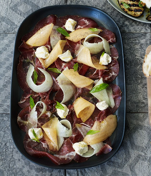 Capocollo, melon and vin santo