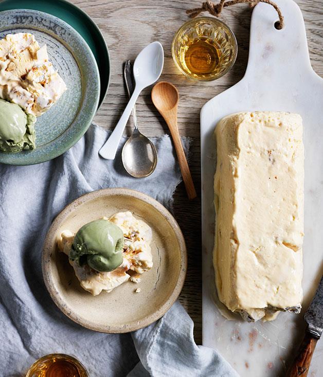 "**[Lupino's torrone semifreddo](http://www.gourmettraveller.com.au/recipes/chefs-recipes/torrone-semifreddo-9213 target=""_blank"")**"