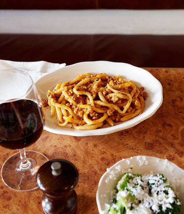 "[10 William St's Pici Bolognese](https://www.gourmettraveller.com.au/recipes/chefs-recipes/pici-bolognese-7835|target=""_blank"")"