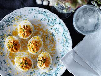 Devilled eggs for Easter