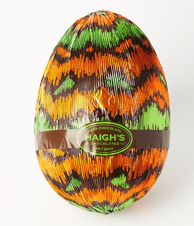 "**Dark Chocolate Egg** [Haigh's](http://www.haighschocolates.com.au ""Haigh's"") has everything you need for your Easter egg hunt, including bilbies, chickens, and a selection of brightly foiled eggs in a variety of sizes, from mini to emu-size. _Large 300gm egg, $23.55_"