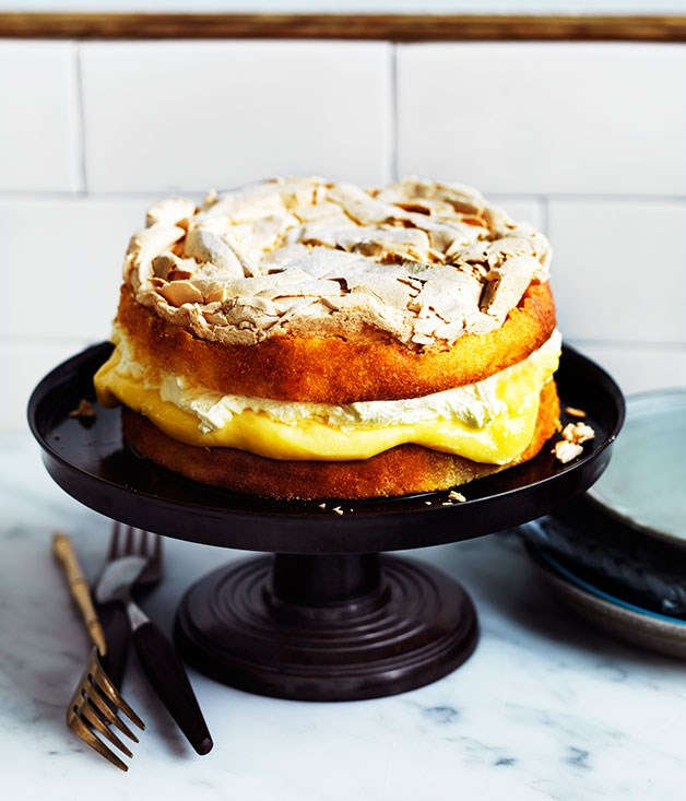"""[**Lemon dream**](https://www.gourmettraveller.com.au/recipes/chefs-recipes/lemon-dream-8225 target=""""_blank"""")   """"This cake is the new religion at Flour and Stone, and never fails to send those worshipping it into a dream  of billowy clouds,"""" says Ingram. """"It has come to many parties, including one where its name was changed  to reflect the euphoric place it transports you to."""""""