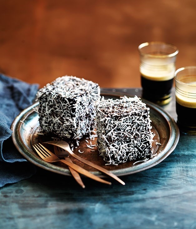"[**Triple-chocolate lamingtons**](https://www.gourmettraveller.com.au/recipes/browse-all/triple-chocolate-lamingtons-13940|target=""_blank"")"