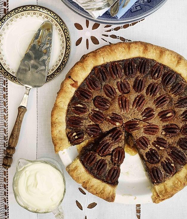 "[**Pecan pie**](https://www.gourmettraveller.com.au/recipes/browse-all/pecan-pie-9848|target=""_blank"")"