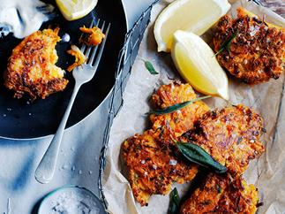 Carrot, pecorino and sage fritters