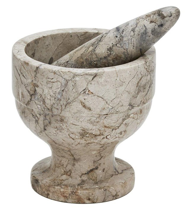"**Island Trading Co Mortar and Pestle** This marble mortar and pestle from [Island Trading Co ](http://islandtradingco.com.au/ ""Island Trading Co"") will make a practical and charming addition to your mum's kitchen counter. _$95_"