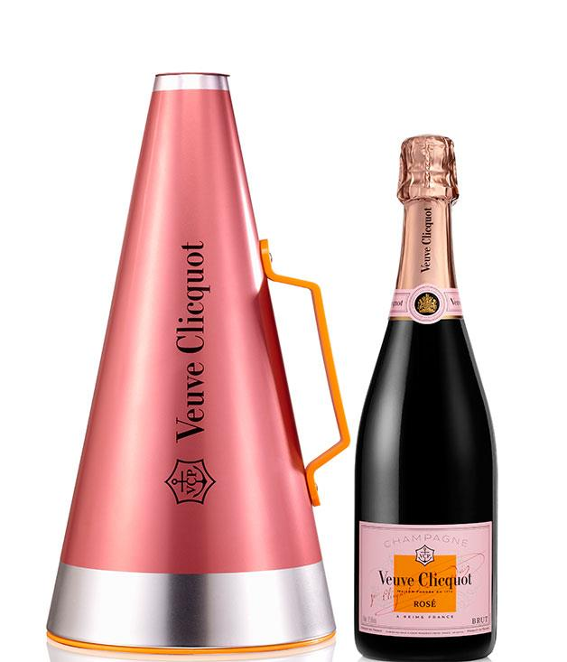 """**Veuve Clicquot Gift Set** The[Veuve Clicquot](http://moet-hennessy-collection.com.au/ """"Moet Hennessy"""")'Scream Your Love' ice bucket doubles as a megaphone - handy when you're rounding up the gang for a celebratory bottle of bubbles this Mother's Day._$119.99_"""