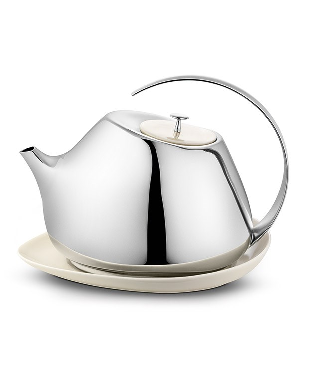 "**Helena Rohner for Georg Jensen Teapot** This porcelain and stainless steel teapot has been designed by Spanish jewellery designer Helena Rohner exclusively for [Georg Jensen](http://www.georgjensen.com/en-au/living/helena-teapot-with-coaster-13-l_3583540 ""Georg Jensen""). We love its fluid lines and modern yet gentle shape - and we think mums will too. _$260_"