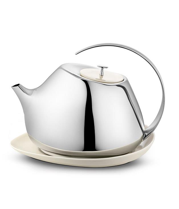 """**Helena Rohner for Georg Jensen Teapot** This porcelain and stainless steel teapot has been designed by Spanish jewellery designer Helena Rohner exclusively for [Georg Jensen](http://www.georgjensen.com/en-au/living/helena-teapot-with-coaster-13-l_3583540 """"Georg Jensen""""). We love its fluid lines and modern yet gentle shape - and we think mums will too. _$260_"""