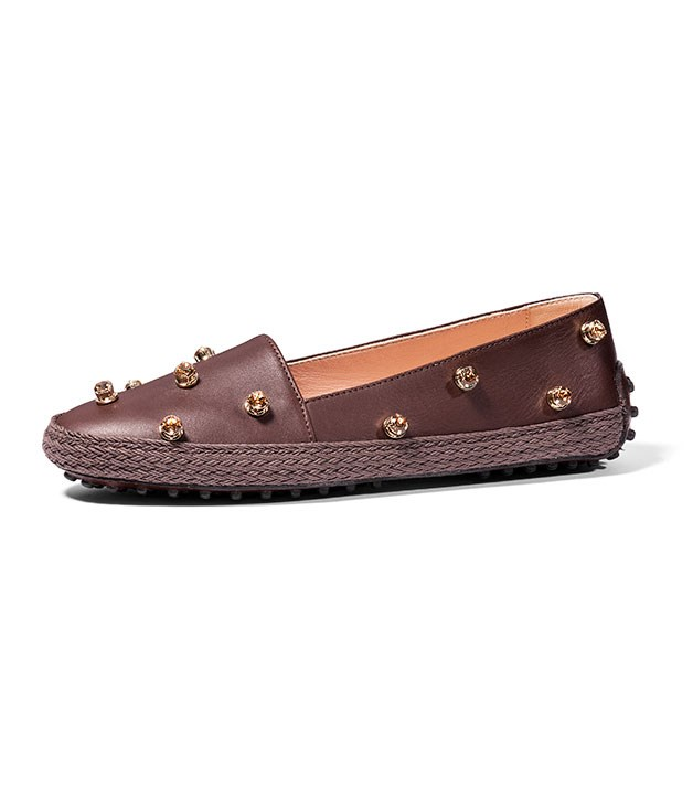 "**Tod's Loafers** [Tod's](http://store.tods.com/ ""Tod's"") has reinvented the classic driving loafer just in time for Mother's Day. Choose from either denim or leather styles, both with suitably glam Swarovski crystals. _$1,085_"