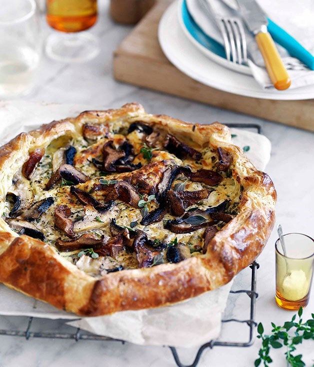 "[Mushroom and ricotta galette](https://www.gourmettraveller.com.au/recipes/browse-all/mushroom-and-ricotta-galette-14130|target=""_blank"")   Flaky pastry, buttery mushrooms and a medley of cheeses – your weekday lunch just got a whole lot sexier."