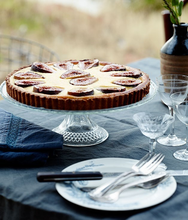 "[**Fig, almond, anise and custard crostata**](https://www.gourmettraveller.com.au/recipes/chefs-recipes/fig-almond-anise-and-custard-crostata-8060|target=""_blank"")"