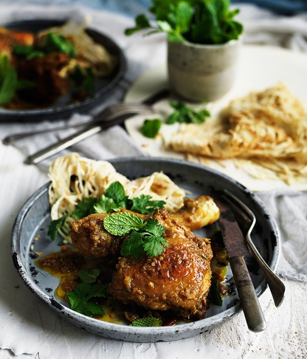 MALAYSIAN PICKLED CHICKEN WITH ROTI JALA