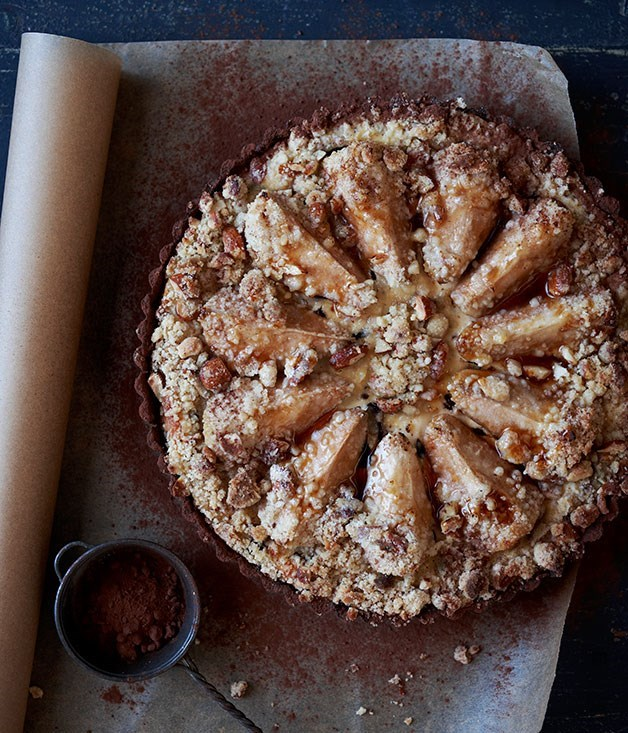 **Pear, chocolate and ricotta tart**