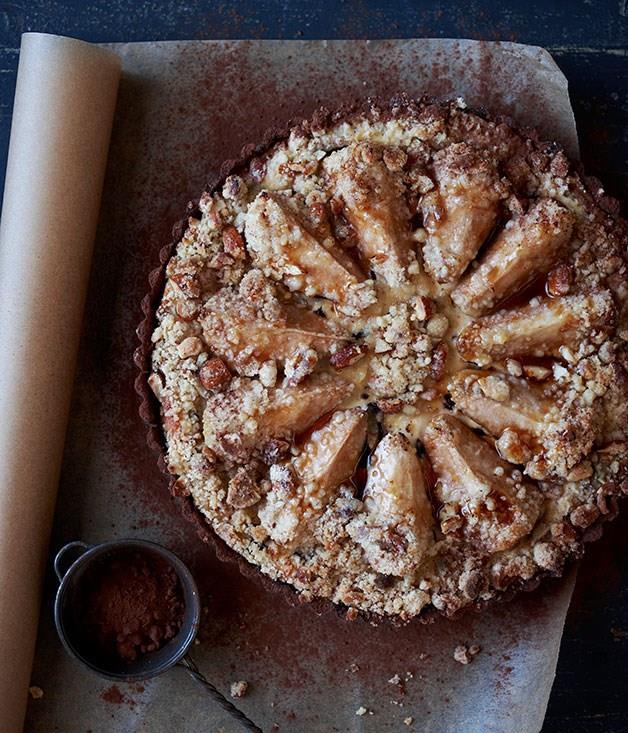 **Pear, chocolate and ricotta tart**