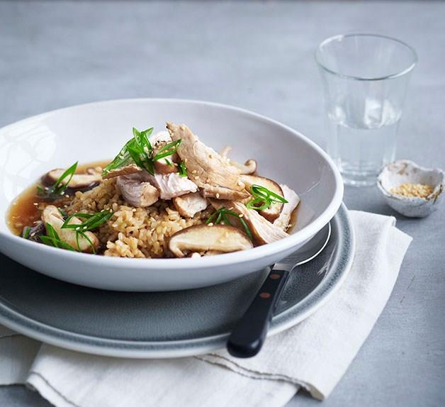 Soy poached chicken
