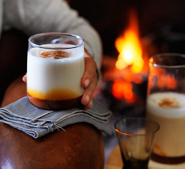 Hot caramel and star anise milk