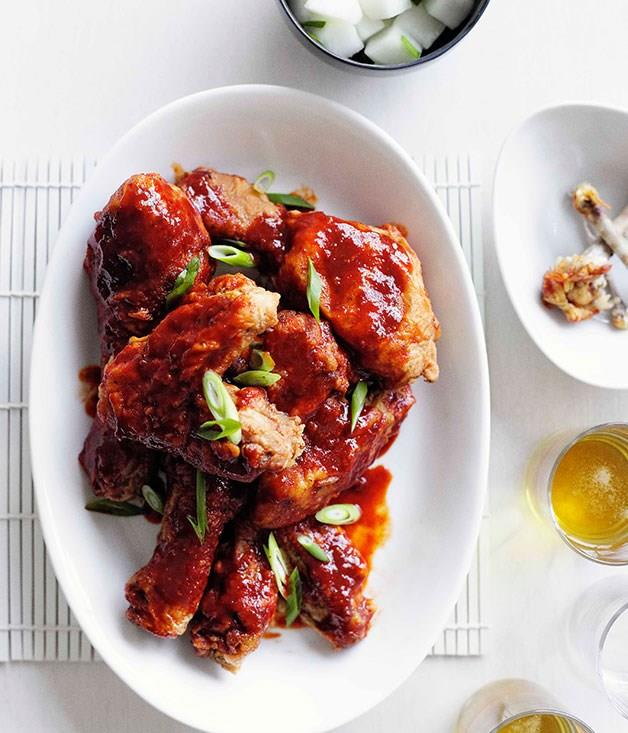 "[**Korean fried chicken**](https://www.gourmettraveller.com.au/recipes/browse-all/korean-fried-chicken-10701|target=""_blank"")"