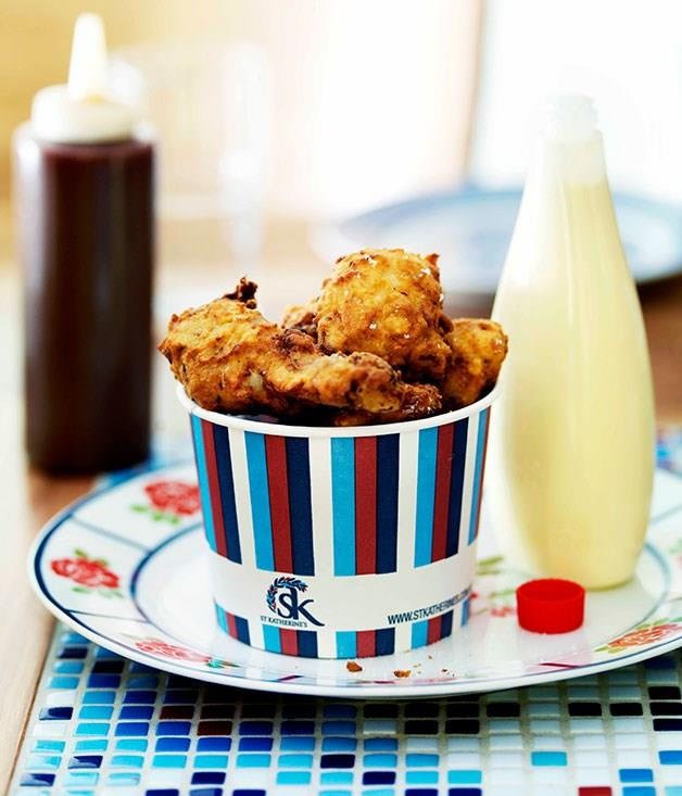 "[**KFC, ""Kat's fried chicken"", with barbecue sauce**](https://www.gourmettraveller.com.au/recipes/chefs-recipes/kfc-kats-fried-chicken-with-barbecue-sauce-7700