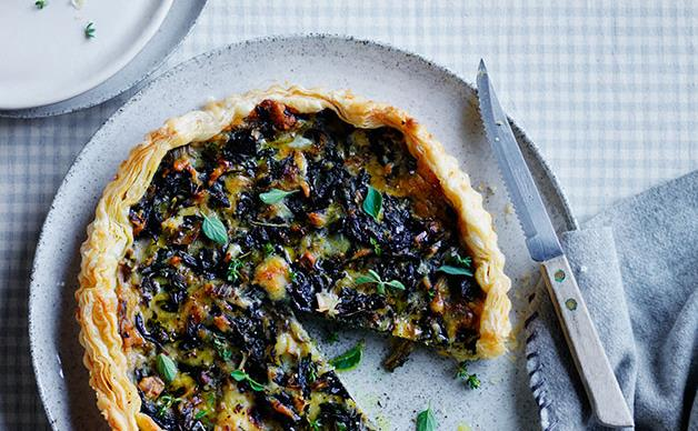 Silverbeet and Gruyère tart