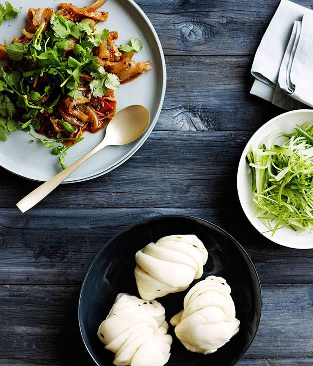 **Sichuan-style beef tendon with steamed buns**