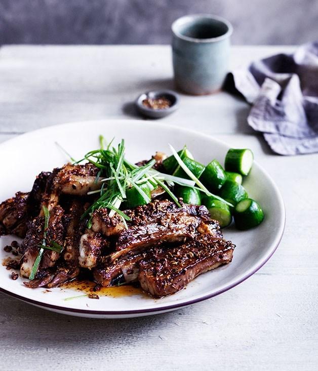 **Sichuan-spiced lamb ribs**
