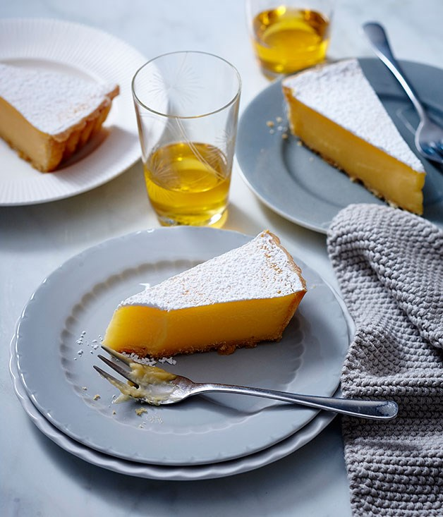 "**[Lemon tart](https://www.gourmettraveller.com.au/recipes/browse-all/lemon-tart-14224|target=""_blank"")**"
