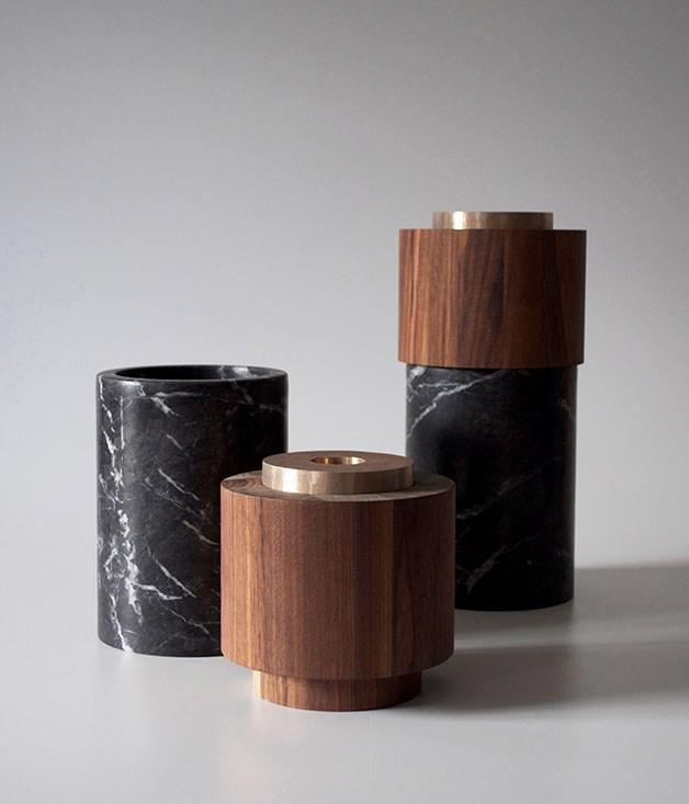 """**Michaël Verheyden Potte Lux vase** Michaël Verheyden Potte Lux vase (in three pieces), $2450, from [Becker Minty](http://www.beckerminty.com """"Becker Minty"""")."""