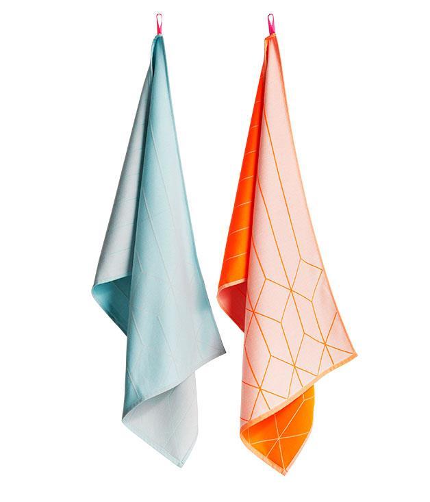 """**Hay tea towels** Hay tea towels, $48 each, from [Cult](http://www.cultdesign.com.au """"Cult"""")."""
